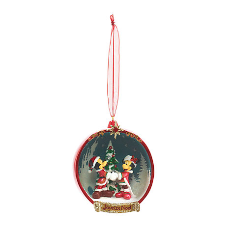 Mickey and Minnie Mouse Open Bauble, Disneyland Paris