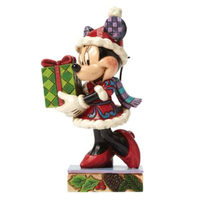 Disney Traditions Minnie Mouse Holiday Gift Figurine