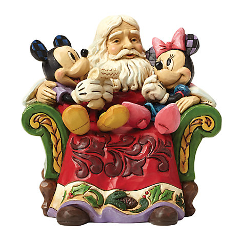 Disney Traditions Mickey and Minnie Christmas Wishes Figurine