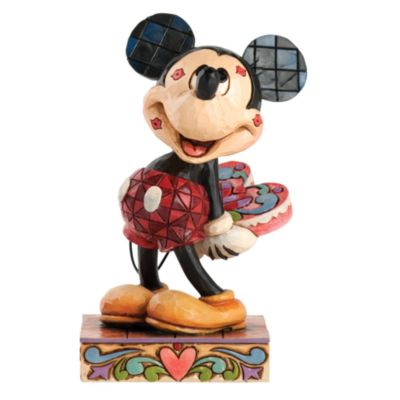 Disney Traditions Mickey Mouse Kisses Figurine