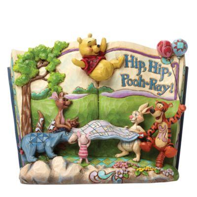 Disney Traditions Winnie the Pooh Hip Hip Pooh-Ray Figurine