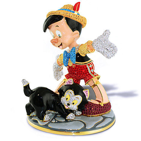 Arribas Jewelled Collection, Pinocchio and Figaro Limited Edition Large Figurine