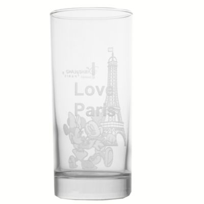 Arribas Glass Collection, Disneyland Paris Mickey And Minnie Long Glass