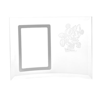 Arribas Glass Collection, Mickey And Minnie Mouse Photo Frame