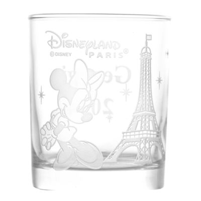 Arribas Glass Collection, Disneyland Paris Minnie Mouse And Eiffel Tower Glass Tumbler