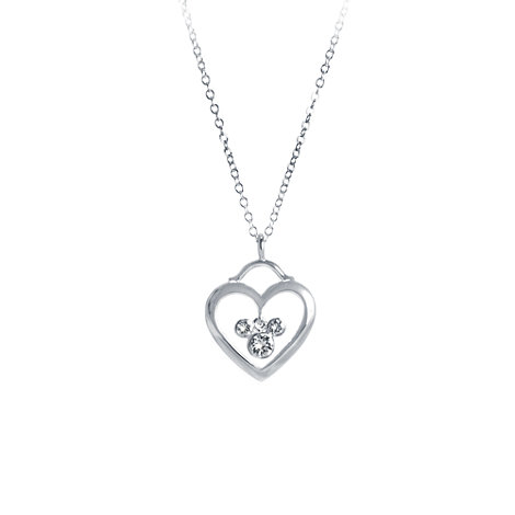 Mickey Mouse Heart And Icon Necklace, Arribas Jewelled Collection