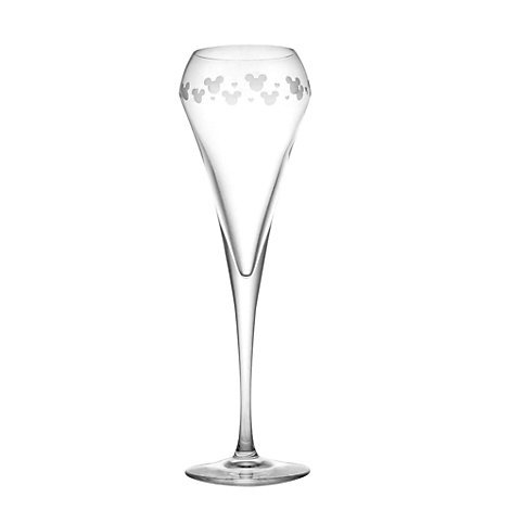Mickey Mouse Brio Champagne Flute, Arribas Glass Collection