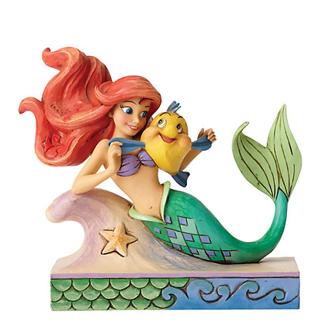 Disney Traditions Ariel and Flounder Figurine