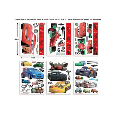 Disney Pixar Cars 78 Piece Room Decor Kit