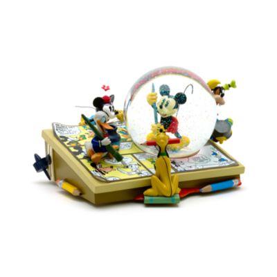 Boule à neige musicale Mickey Mouse et ses amis