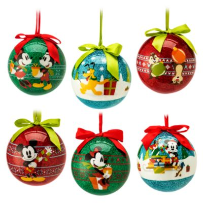Mickey Mouse and Friends Baubles, Set of 6