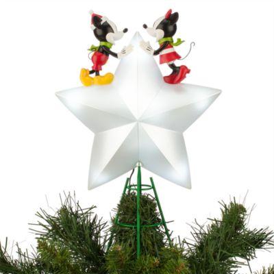 Musse och Mimmi Pigg upplyst julgranstopp