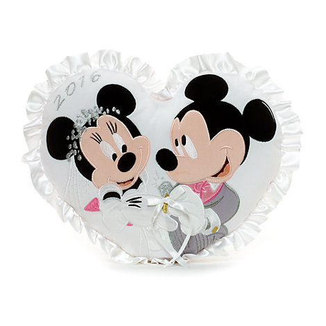 mickey and minnie mouse wedding cushion. Black Bedroom Furniture Sets. Home Design Ideas
