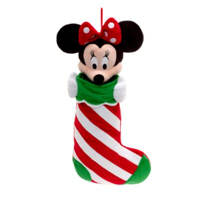Calcetín Navidad con cara de Minnie