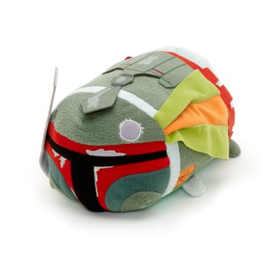Peluche Tsum Tsum medio Boba Fett con i segni della battaglia, Star Wars