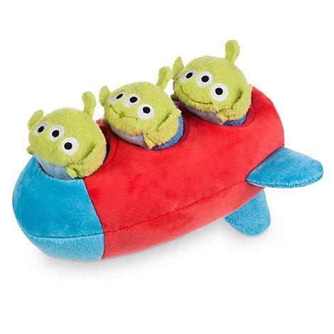 Mini peluches Tsum Tsum cohete con 3 alienígenas, Toy Story