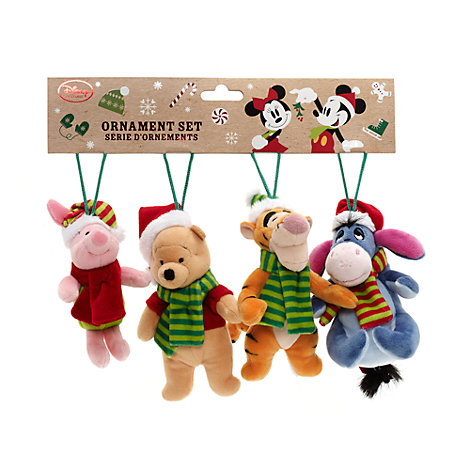 Winnie The Pooh And Friends Soft Toy Decorations, Set of 4