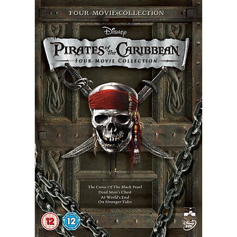 Pirates Of The Caribbean Four Movie DVD Set