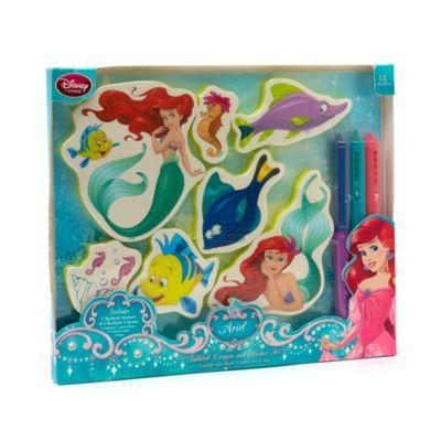 The Little Mermaid Bathtub Crayon And Sticker Set
