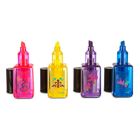 Disney Descendants Nail Polish Shaped Highlighters, Set of 4