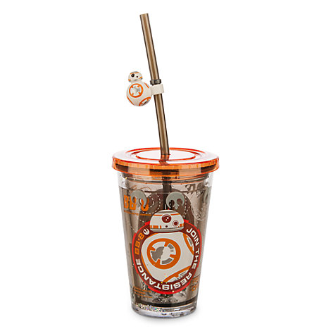 Vaso con agua y pajita BB-8, Star Wars