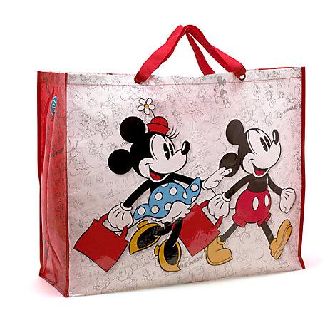 Bolsa de la compra Mickey y Minnie extragrande