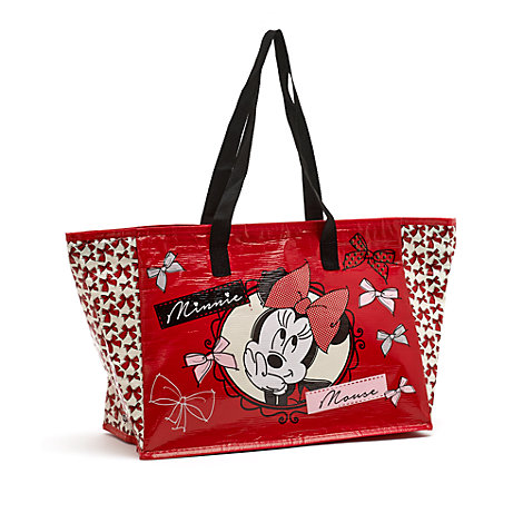 Minnie Mouse Red Zip-Up Shopper Bag