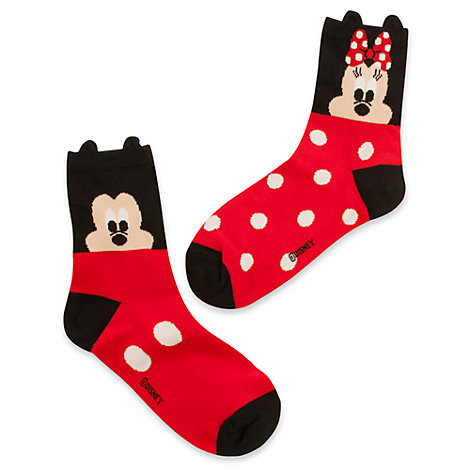 Mickey and Minnie Mouse Ladies' Socks