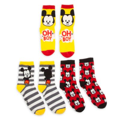 Calcetines MXYZ Mickey Mouse para chica, pack de 3