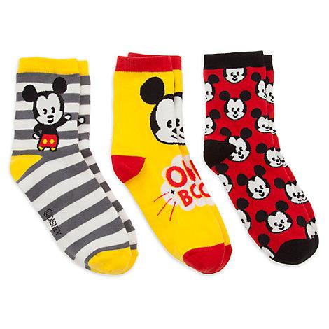 Mickey Mouse MXYZ Ladies' Socks, Pack of 3