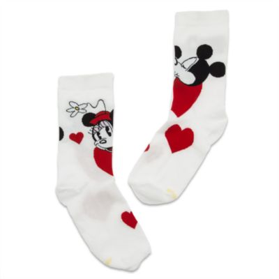 Mickey and Minnie Mouse Hearts Ladies' Socks