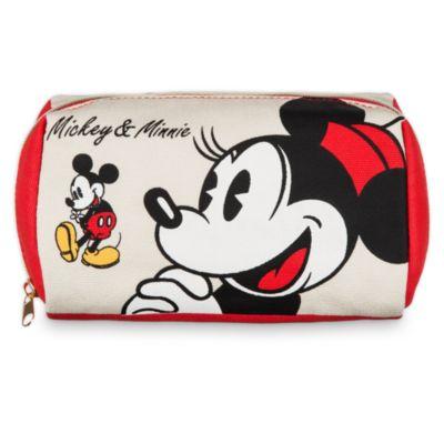 Trousse de maquillage Mickey et Minnie Mouse en toile