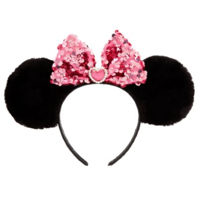 Minnie Mouse Plush Ears with Pink Bow