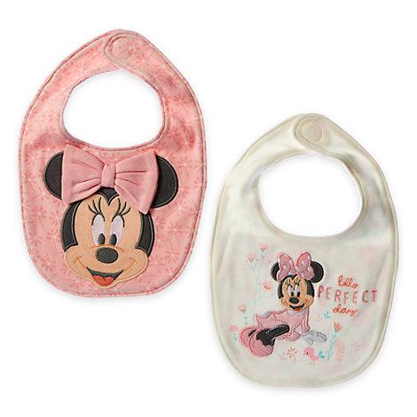Lot de 2 bavoirs Minnie Mouse Layette pour bébé