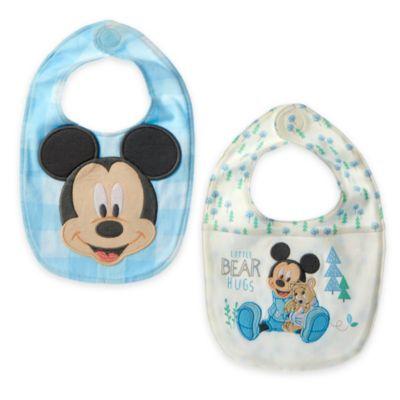 Baberos Mickey Bebés (pack de 2)