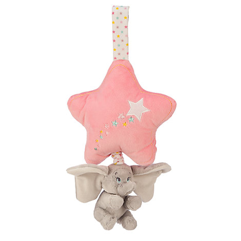 Dumbo Pink Musical Baby Pull