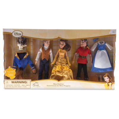 Set mini bambole La Bella e la Bestia