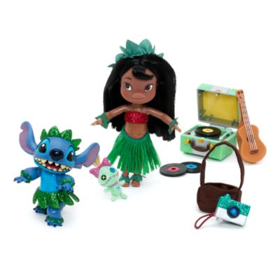 Set juego muñecas mini Lilo y Stitch colección Animators