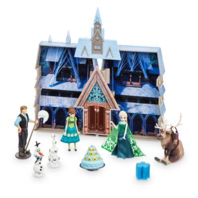Château changeant de couleurs à l'eau La Reine des Neiges : une Fête Givrée