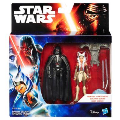 Pack de dos figuras Darth Vader y Ahsoka Tano misión espacial, Star Wars: Rebels (9,5 cm)