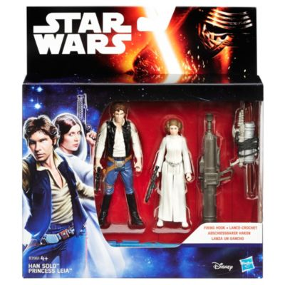 Star Wars: A New Hope 3.75'' Figure 2 Pack, Space Mission Han Solo and Princess Leia