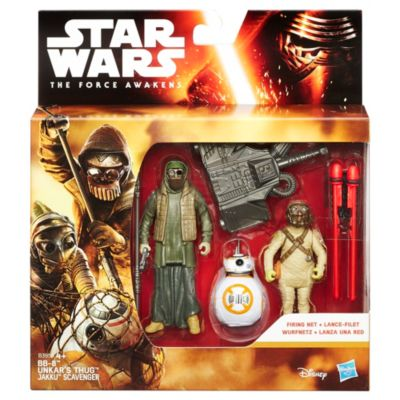 Pack de 3 figurines 9,5 cm Star Wars : Le Réveil de la Force BB-8 et Unkar's Thug Mission Désert