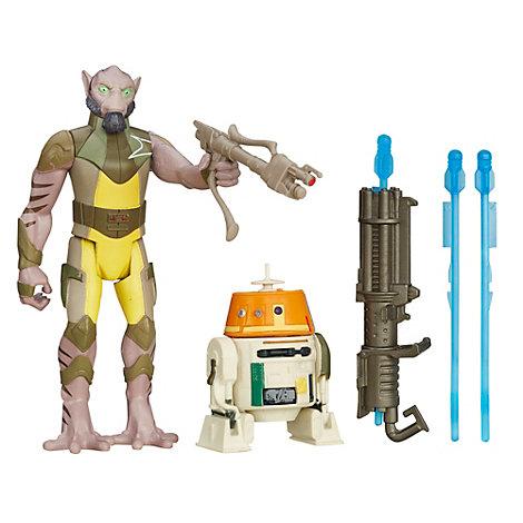 Pack de 2 figurines 9,5 cm Star Wars Rebels Garazeb « Zeb » Orrelios et C1-10P Mission Forêt