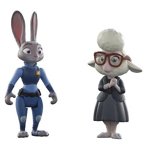 Figurines Judy Hopps et Bellwether, l'assistante du maire, de Zootopie