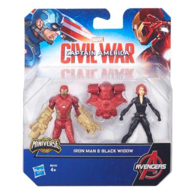 The First Avenger: Civil War - Black Widow und Iron Man Figuren
