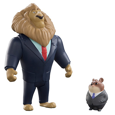 Mayor Lionheart and Lemming Businessman Figures, Zootropolis
