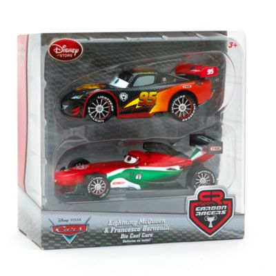 Disney Pixar Cars Carbon Racers Lightning McQueen and Francesco Bernoulli Die-Casts