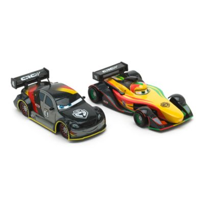 Disney Pixar Cars Carbon Racers Max Schnell and Rip Clutchgoneski Die-Casts
