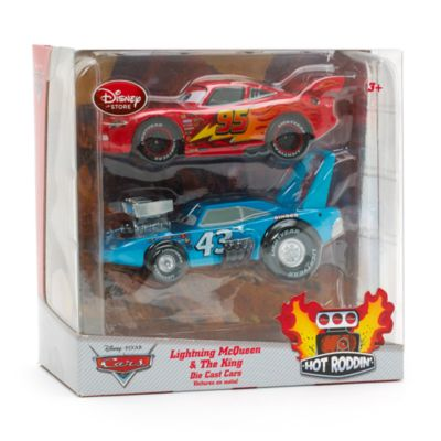Disney Pixar Cars Hot Rod Lightning McQueen and The King Die-Casts