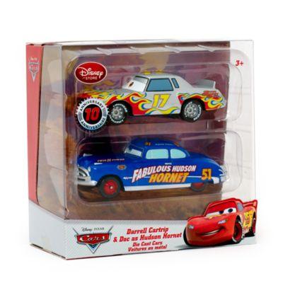 Véhicules miniatures Darrel Cartrip et Hudson Hornet de Disney Pixar Cars